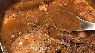 Smothered Pork Chops &amp Onion Gravy by The Cajun Ninja