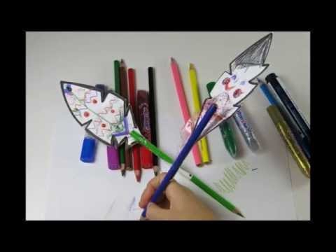 DIY Simple Pen Feather. How to Make  Cute Feathers from Paper.