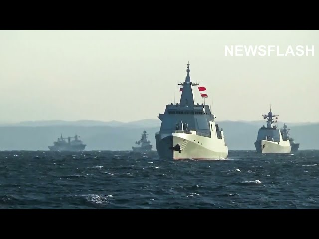 Chinese And Russian Navies Sail Through Japan Sea During Joint Military Exercise