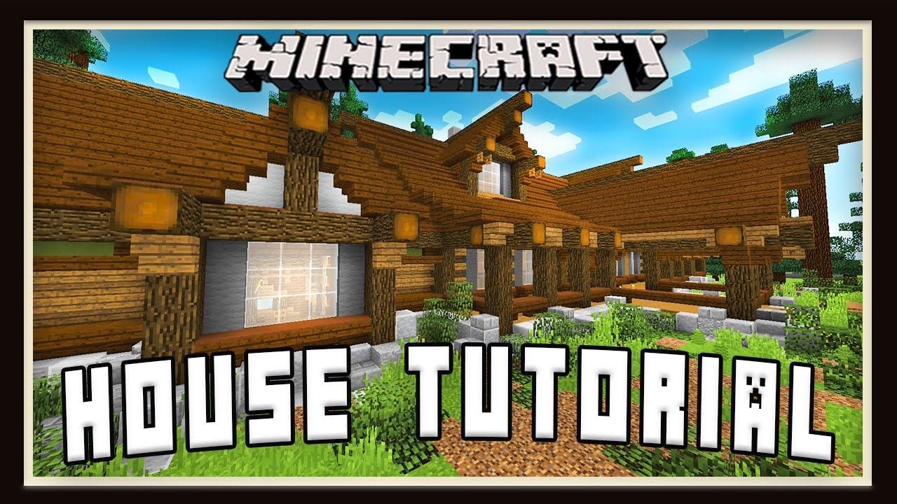Minecraft how to build a house timelapse and roof for Window design minecraft