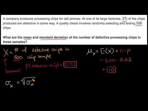 Finding the mean and standard deviation of a binomial random variable | AP Statistics | Khan Academy
