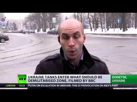 BBC reporter films Kiev tanks in residential area on E. Ukraine frontline (VIDEO)