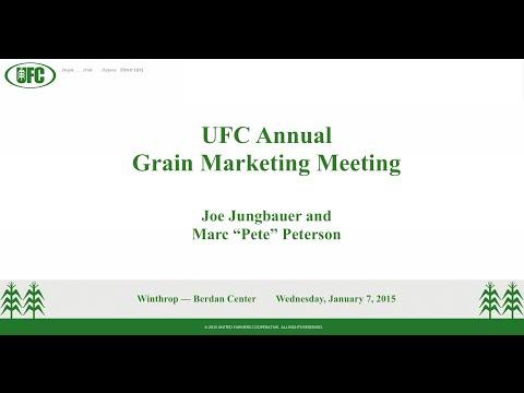 2015 UFC Annual Grain Meeting - Joe Jungbauer