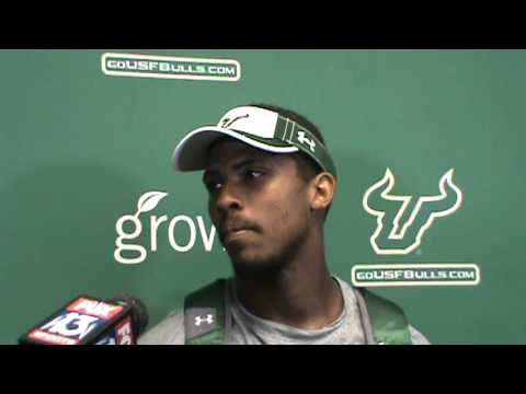 USF receiver Sterling Griffin talks fall camp