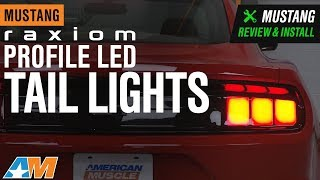 2015-2019 Mustang Raxiom Profile Red Lens LED Tail Lights Review & Install