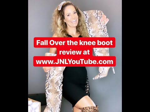 JENNIFER NICOLE LEE FASHION WARS! Fall Fashion Review Unboxing of Over The Knee OTK Boots