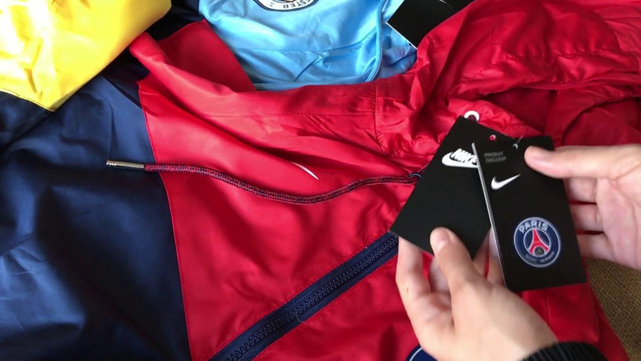 Jaqueta Nike Windbreaker Corta Vento ( Manchester City PSG Barcelona  Chelsea ) Pronta Entrega 995a904f7f506