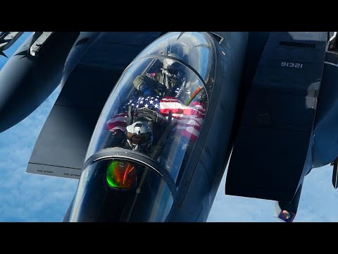 F-15E STRIKE EAGLES FLYOVER! 492nd Fighter Squadron Supports Estonia's Independence Day With Flyover