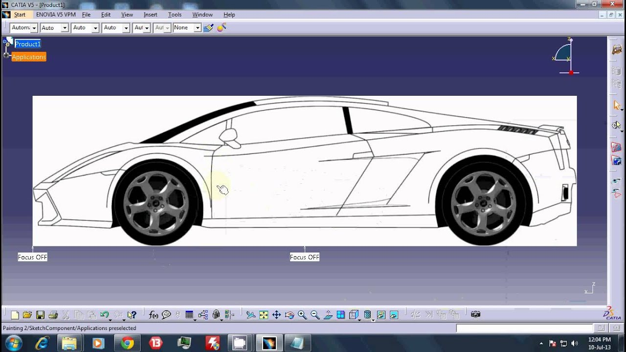 TUT 1----CATIA v5R19 SKETCH TRACER---Importing and aligning blueprints
