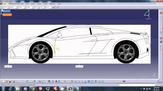 TUT 1----CATIA v5R19 SKETCH TRACER---Importing and aligning blueprints.