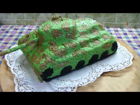 Торт танк с двигающейся башней