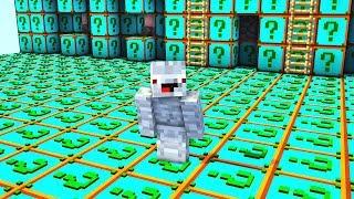 die ganze Base besteht aus Plural Lucky Blocks.. Minecraft LUCKY BLOCK BEDWARS