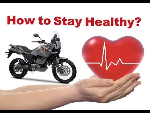 Top 8 tips to stay healthy on a long motorcycle trip!