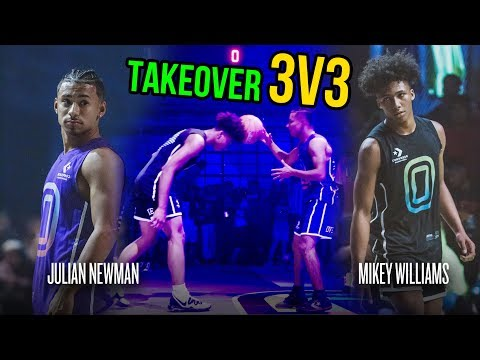 Julian Newman Throws Ball Off Mikey Williams Head, Then Mikey GOES OFF! Julian Challenges Kyree 😱