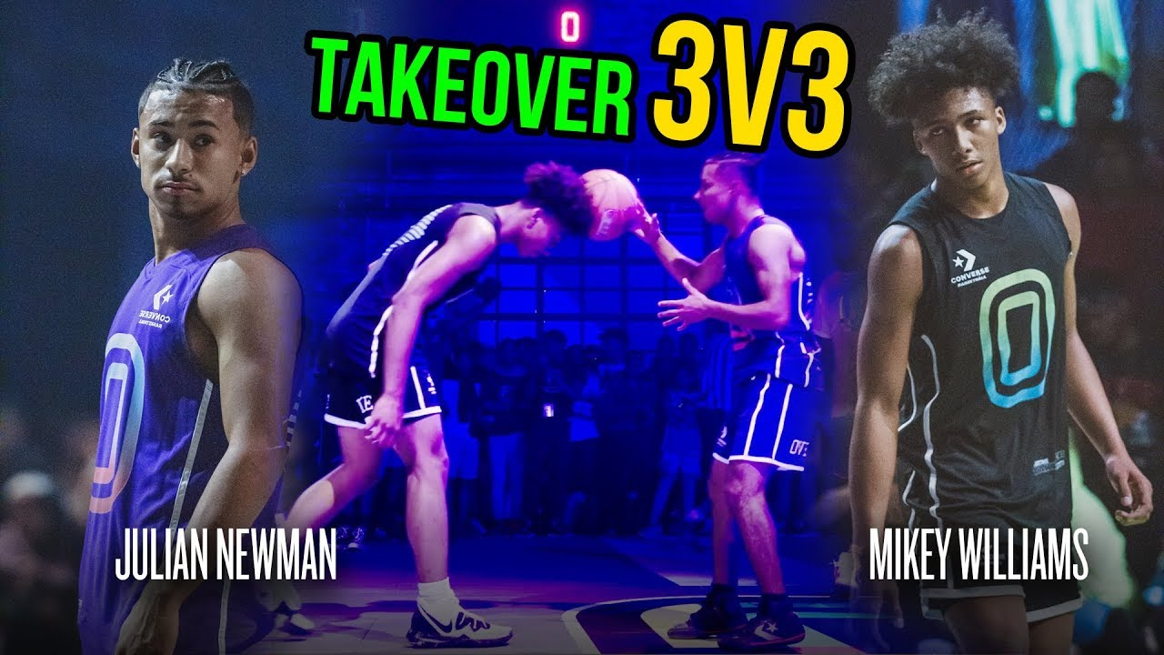 Julian Newman Throws Ball Off Mikey Williams' Head, Then Mikey GOES OFF! Julian Challenges Kyre