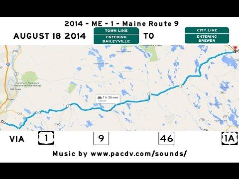 2014 -  ME -  1  -  Maine Route 9