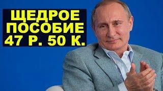 Многодетной матери выплатили 47,5 рублей