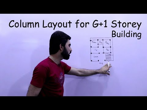 Column layout for Residential Building - Column layout for G+1 Storey Building