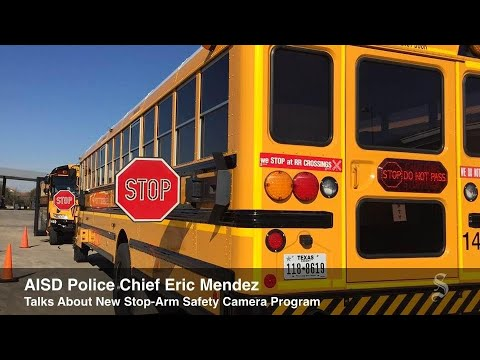 AISD Rolls Out School Bus Stop-Arm Safety Program