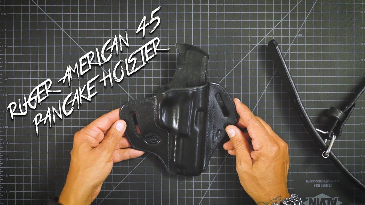Ruger American 45 OWB Leather Holster By: WinthropHolsters com