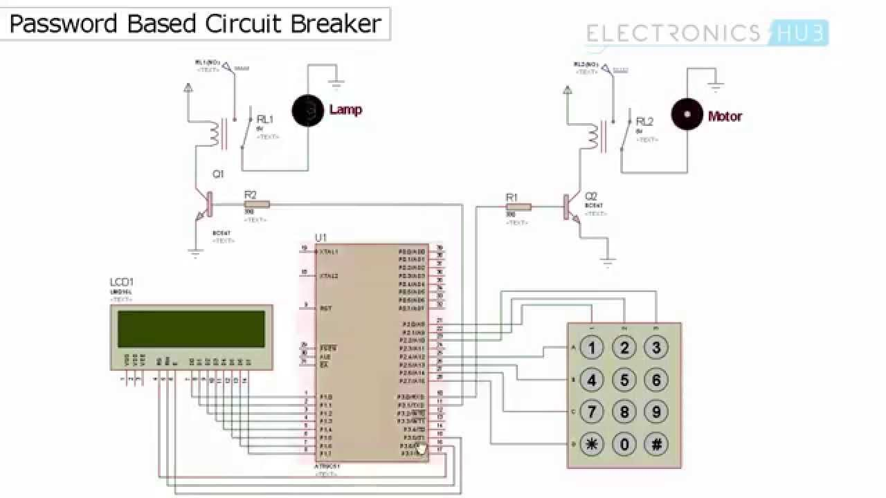 Electronics Circuit Diagram Projects Password Based Breaker Using 8051 Microcontroller Youtube Hub