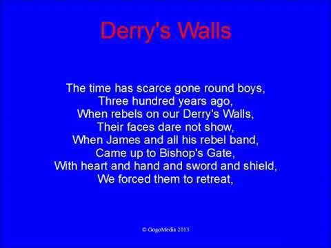 Derry's Walls With Lyrics - Rangers Song