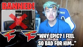 Ninja Reacts TO Pro FaZe Player Nate Hill BANNED From Fall Skirmish For Cheating! (Fortnite Moments)