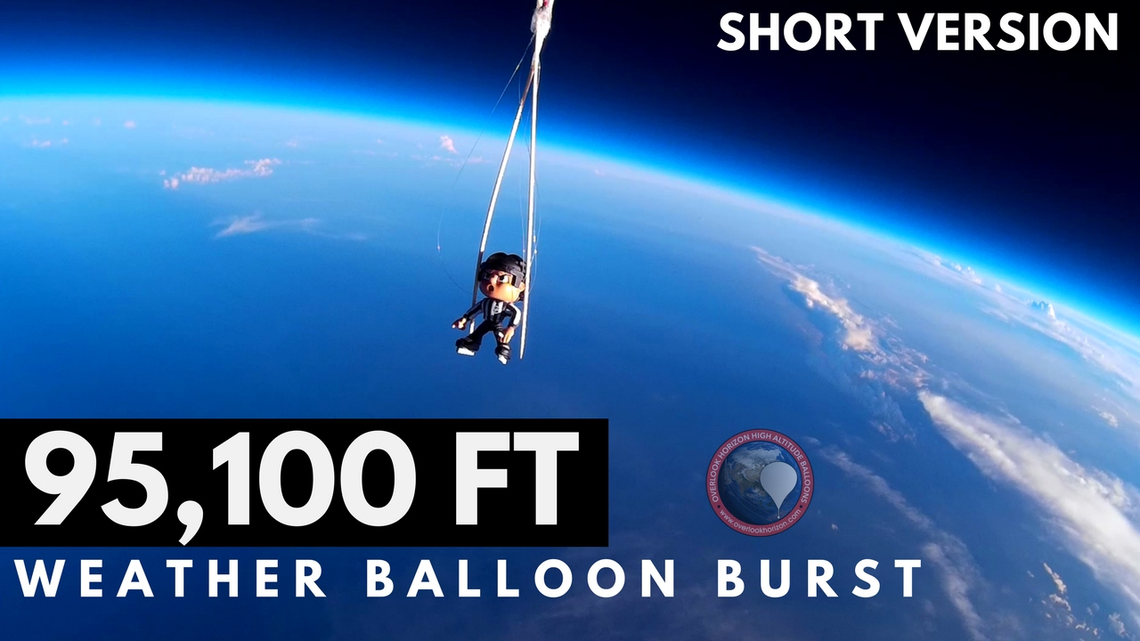 GoPro Weather Balloon Burst at 95,100 FT | Short Version