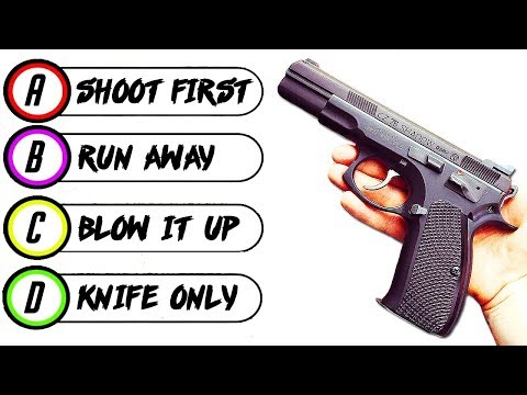 10 Questions to Determine Your WEAPON of Choice (Personality Test)