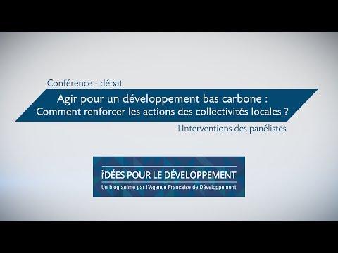 Développement bas carbone : comment renforcer les actions des collectivités locales ? part.1/3
