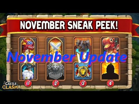 Castle Clash - November Update - Sneak Peek