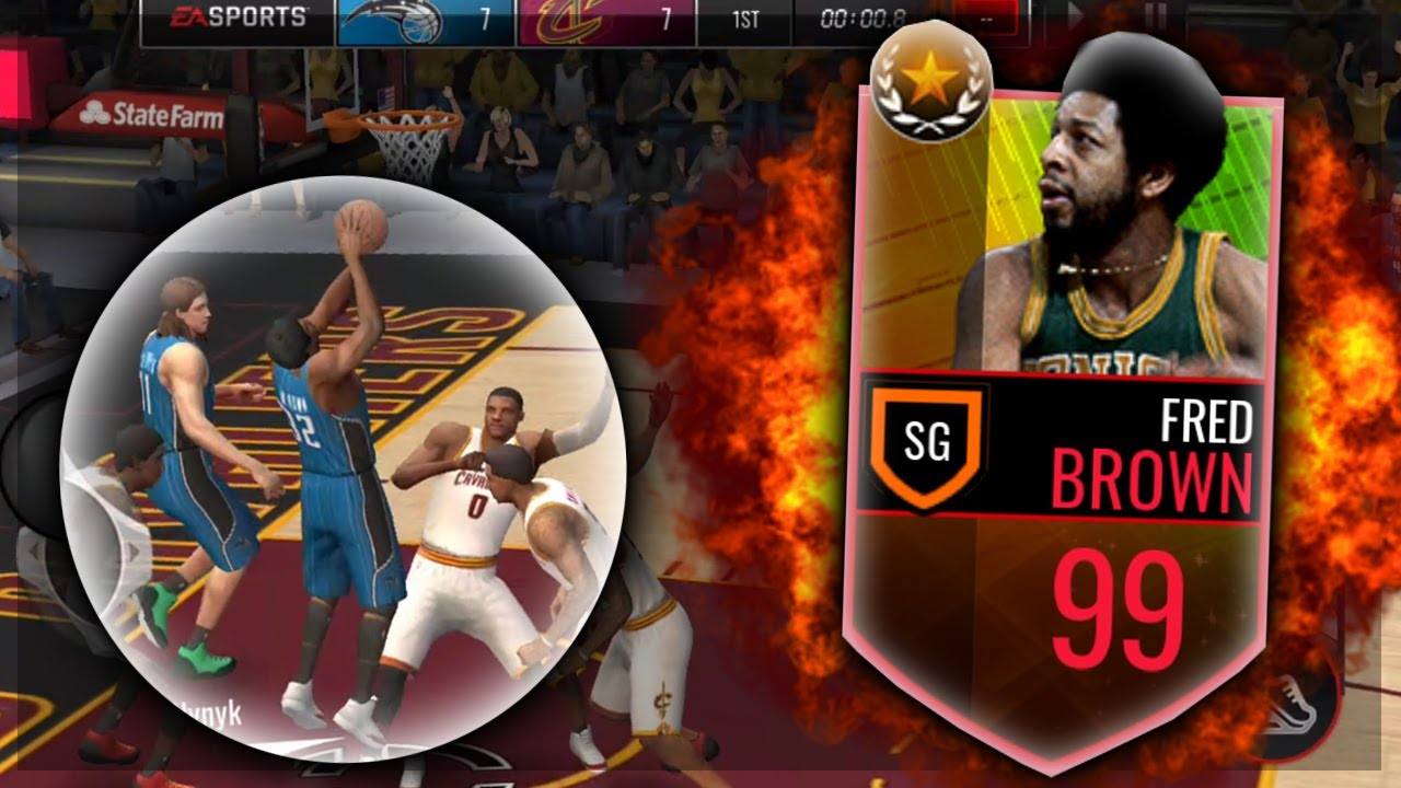 NBA Live Mobile 99 FRED BROWN GAMEPLAY and REVIEW INSANE STATS