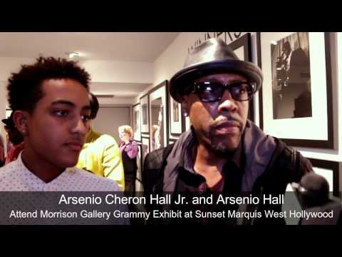 Arsenio Hall and Son attend the Morrison Gallery Grammy Exhibit