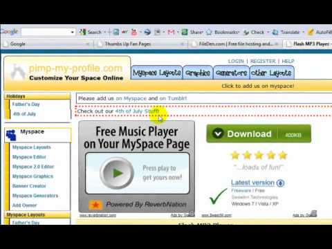 How to add Music Player to Facebook | 2011
