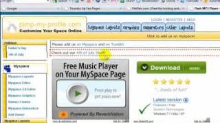 How Add Music Player Facebook