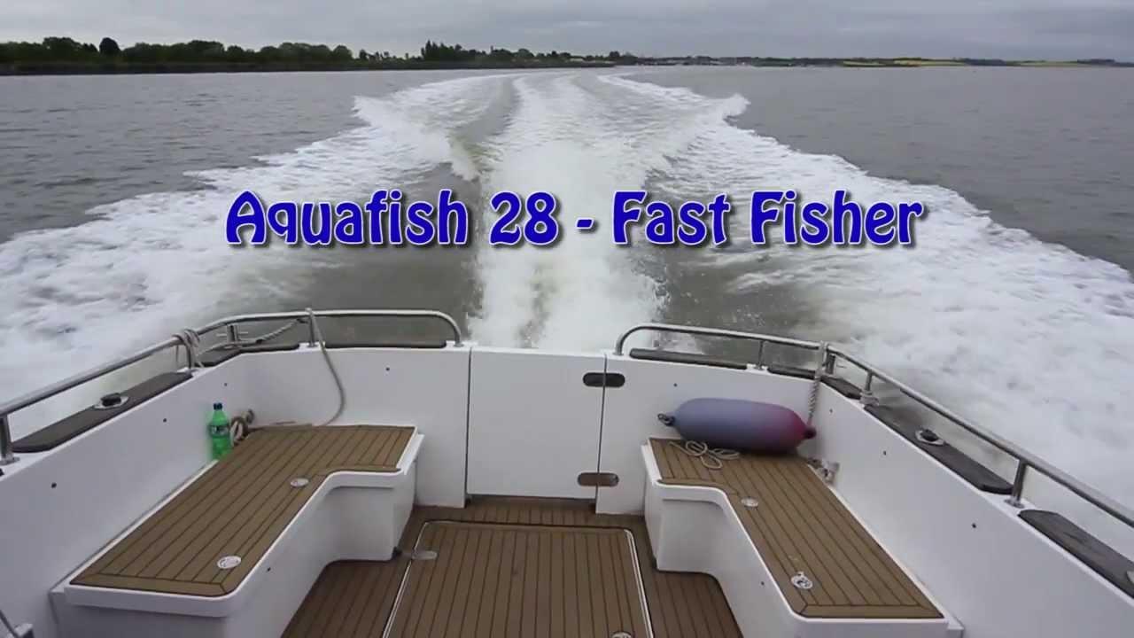 Aquafish 28 fast fishing boat video youtube for Fast fishing boats