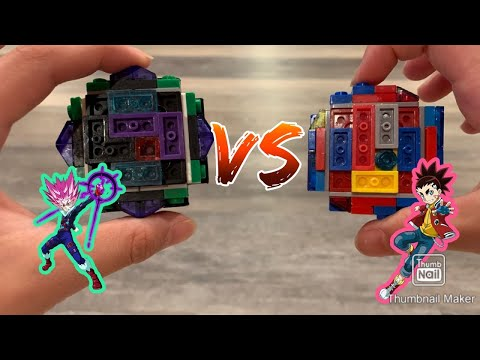 Super destructive! Variant Lucifer vs Infinite Achilles | LEGO beyblade battles