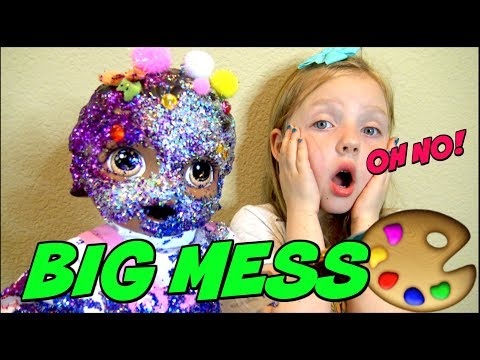BABY ALIVE makes ANOTHER MESS! The Lilly and Mommy Show. The TOYTASTIC Sisters. FUNNY SKIT