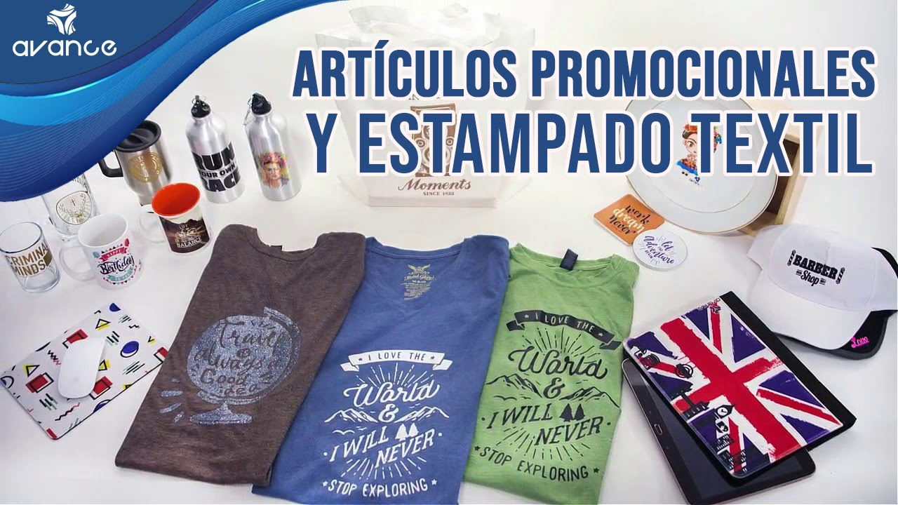 Crea tu negocio con Artículos Promocionales y Estampado Textil - YouTube fe3424d68a6