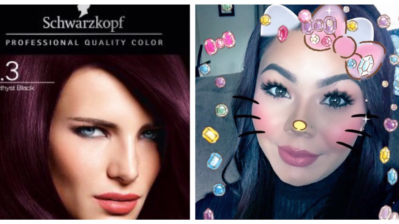 Schwarzkopf Color Ultime Hair Dye Review Amethyst Black 3