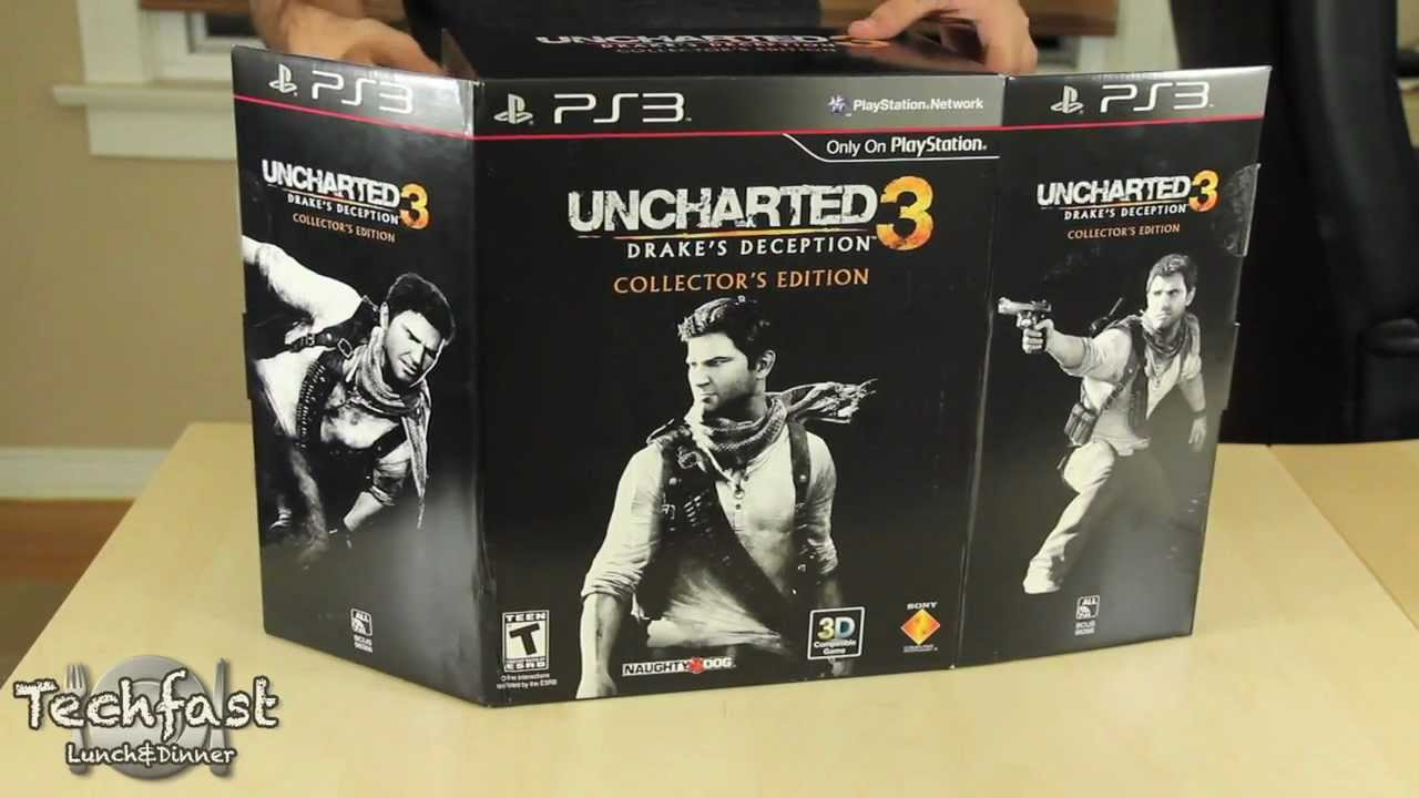 Uncharted 3 Collector S Edition Unboxing Youtube