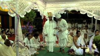Manipuri groom finally enters the wedding mandap