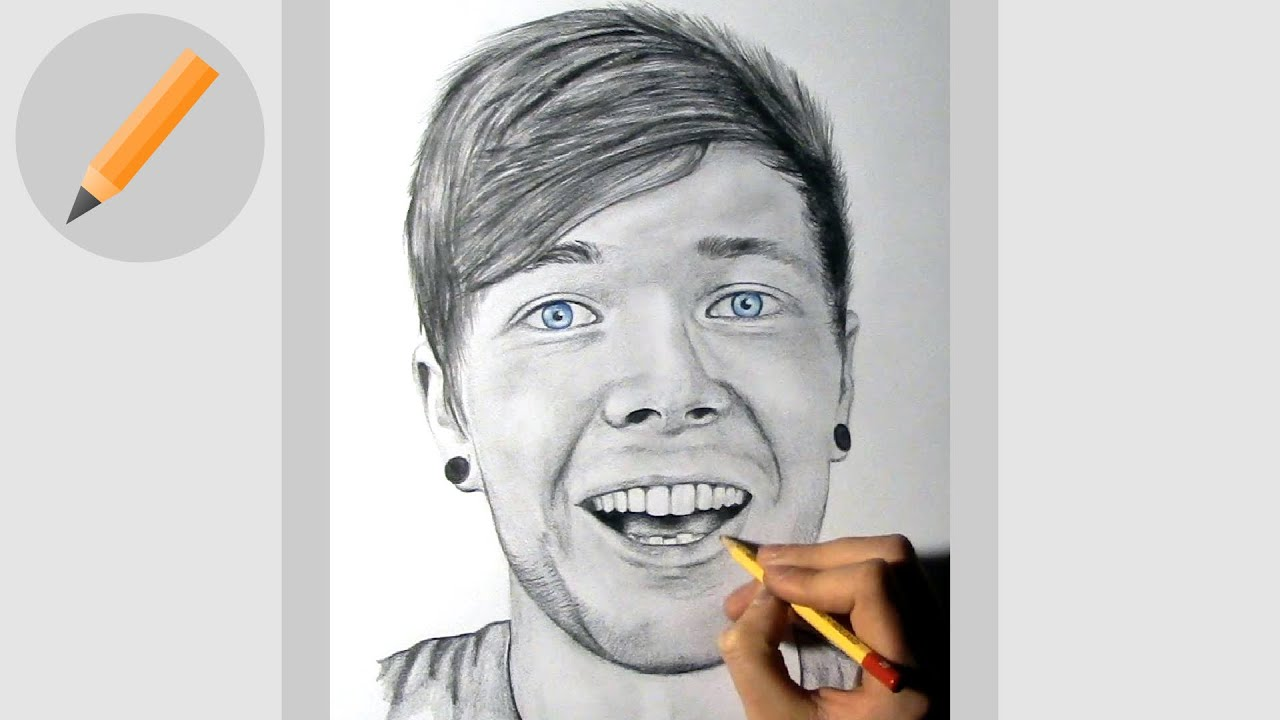 Dantdm  Pencil Drawing