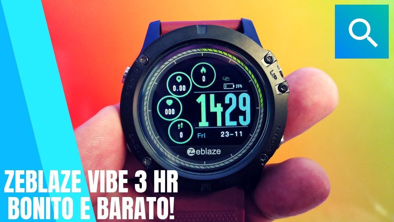 Zeblaze Vibe 3 Hr O Smartwatch Bonito E Barato Youtube