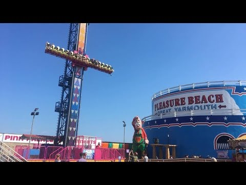 Great Yarmouth Pleasure Beach Vlog July 2018