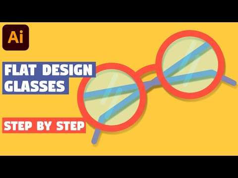 Glasses in 5 EASY STEPS | Illustrator CC tutorial thumbnail