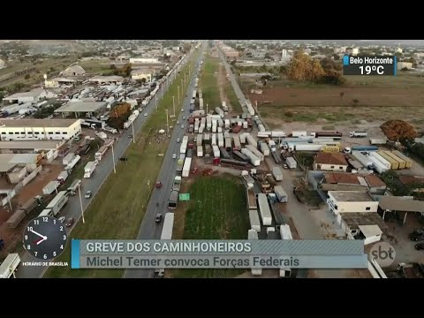 Associação dos Caminhoneiros pede fim das interdições nas rodovias | SBT Brasil (25/05/18)