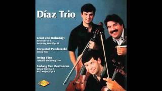 Andres Cardenes: Diaz Trio -Irving Fine: Fantasia For String Trio - Scherzo, Allegro Molto Ritmico