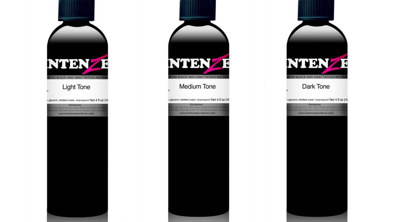 Bob tyrell black n grey set from intenze tattoo ink found for Zuper black tattoo ink intenze