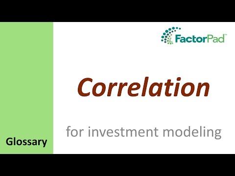 Correlation definition for investment modeling